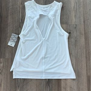 Urban Savage Cut Out Tank, White - NEW w/ tags